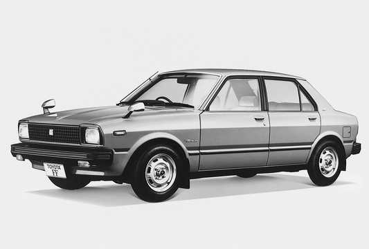 Front/Side  of Toyota Tercel 4-door Sedan 1.5 61hp, 1978