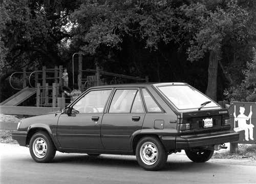 Back/Side of Toyota Tercel 5-door Hatchback 1984