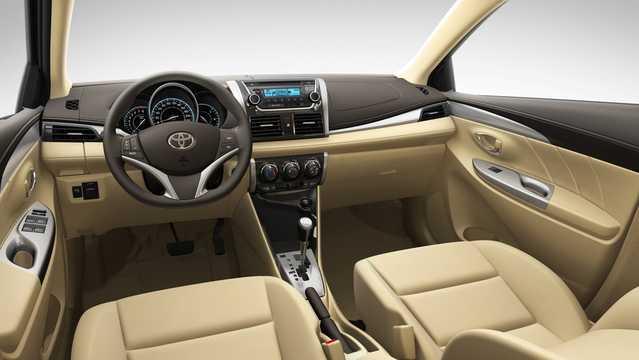 Interior of Toyota Vios 2013
