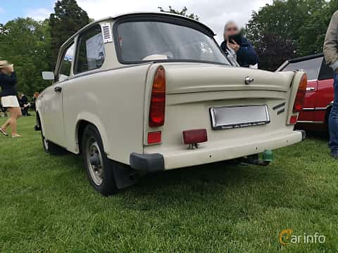 Back/Side of Trabant 601 Limousine 0.6 Manual, 26ps, 1987 at Sofiero Classic 2019