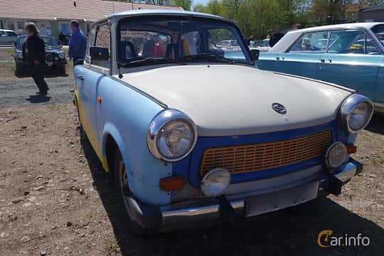 Front  of Trabant 601 Limousine 0.6 Manual, 26ps, 1987 at Riksettanrallyt 2015