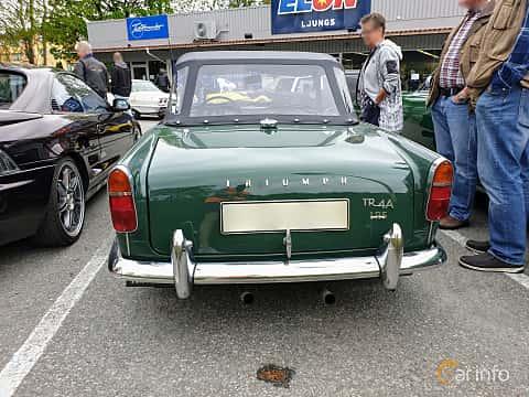 Back of Triumph TR4 2.2 Manual, 106ps, 1966 at Bil & MC träff i Lerum 2019