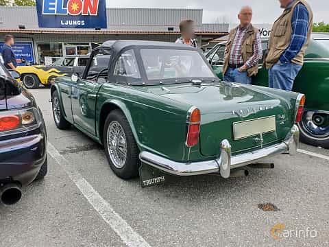 Back/Side of Triumph TR4 2.2 Manual, 106ps, 1966 at Bil & MC träff i Lerum 2019