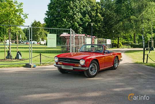 Front/Side  of Triumph TR6 2.5 Manual, 150ps, 1969 at Ronneby Nostalgia Festival 2019