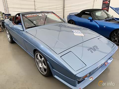 Front/Side  of TVR 350i Convertible 3.5 V8 Manual, 193ps, 1985 at Svenskt sportvagnsmeeting 2019
