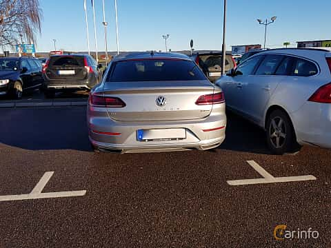 Back of Volkswagen Arteon 2.0 TDI 4Motion DSG Sequential, 239ps, 2017