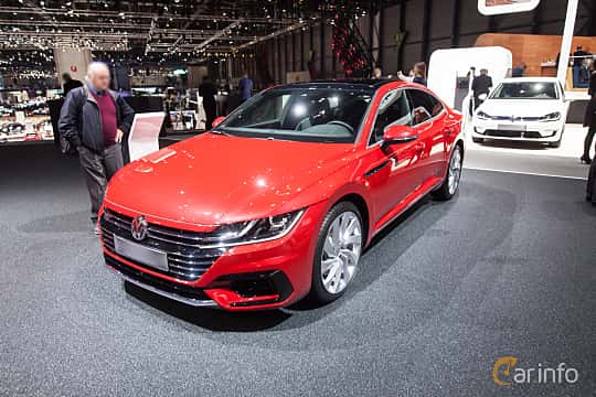 Front/Side  of Volkswagen Arteon 2.0 TSI 4Motion DSG Sequential, 280ps, 2018 at Geneva Motor Show 2018