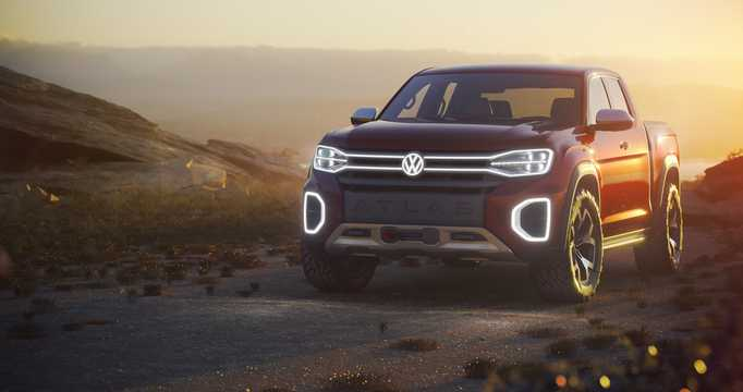 Front/Side  of Volkswagen Atlas Tanoak Pickup Truck 3.6 VR6 FSI 4Motion Automatic, 284hp, 2018