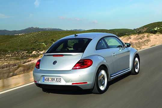 Back/Side of Volkswagen The Beetle 2012