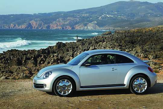 Side  of Volkswagen The Beetle 2012