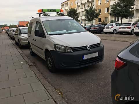 Fram/Sida av Volkswagen Caddy Panel Van 1.6 TDI Manual, 75ps, 2013