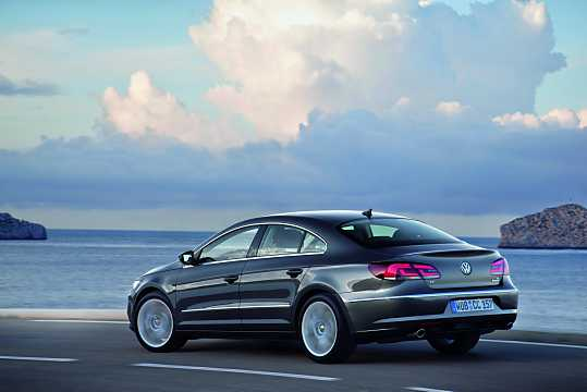 Back/Side of Volkswagen CC 2012