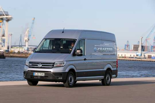 Front/Side  of Volkswagen e-Crafter 35.8 kWh Single Speed, 136hp, 2019