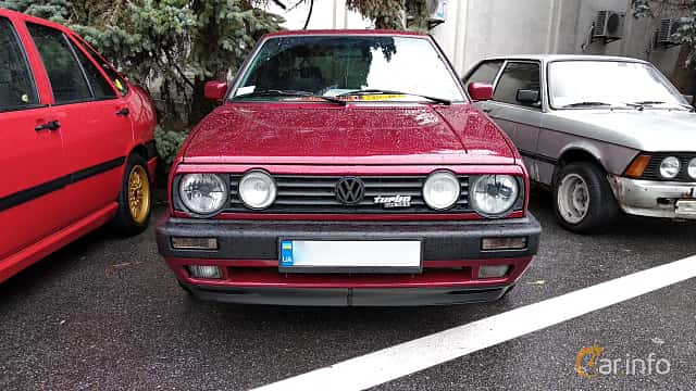 Front  of Volkswagen Golf 3-door 1.6 TD Manual, 60ps, 1989 at Old Car Land no.2 2018