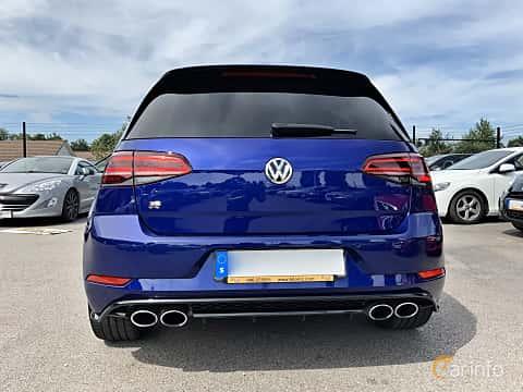 Back of Volkswagen Golf R 5-door 2.0 4Motion DSG Sequential, 310ps, 2018