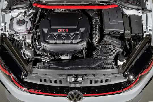 Engine compartment  of Volkswagen Golf GTI Next Level 2.0 TSI DSG Sequential, 411hp, 2018