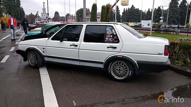 Back/Side of Volkswagen Jetta 4-door 1984 at Old Car Land no.2 2018