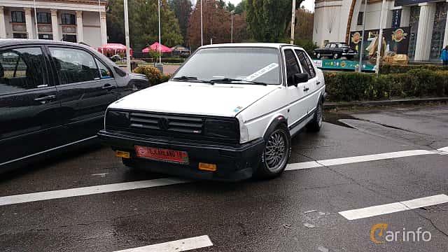 Front/Side  of Volkswagen Jetta 4-door 1984 at Old Car Land no.2 2018