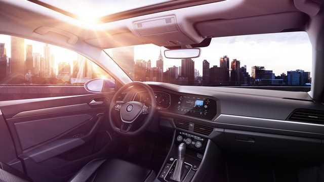 Interior of Volkswagen Jetta 1.4 TSI 150hp, 2019