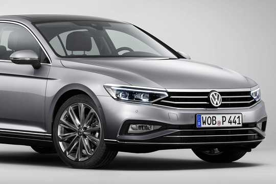 Close-up of Volkswagen Passat 2019