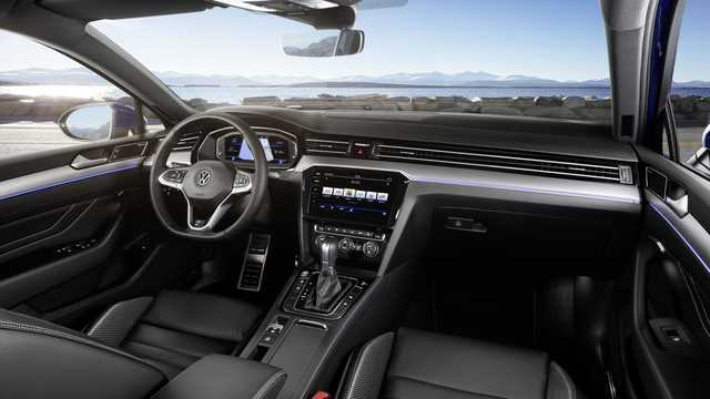 Interior of Volkswagen Passat 2019