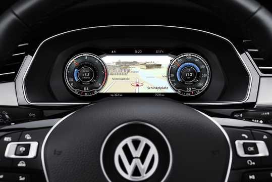 Interior of Volkswagen Passat Variant 2017