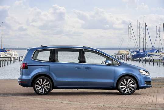 Side  of Volkswagen Sharan 2016