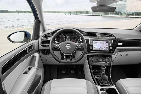 Interior of Volkswagen Touran 2016