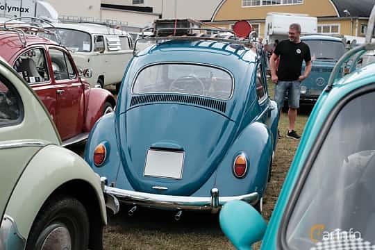 Back of Volkswagen 1200 1.2 Manual, 34ps, 1964 at West Coast Bug Meet 2019