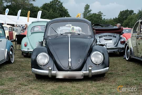 Front  of Volkswagen 1200 1.2 Manual, 30ps, 1958 at West Coast Bug Meet 2019
