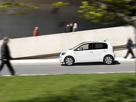 Side  of Volkswagen e-up! 18 kWh Single Speed, 82hp, 2015