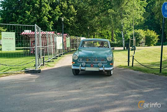 Front  of Volvo Amazon 121 P130 1.8 Manual, 68ps, 1962 at Ronneby Nostalgia Festival 2019