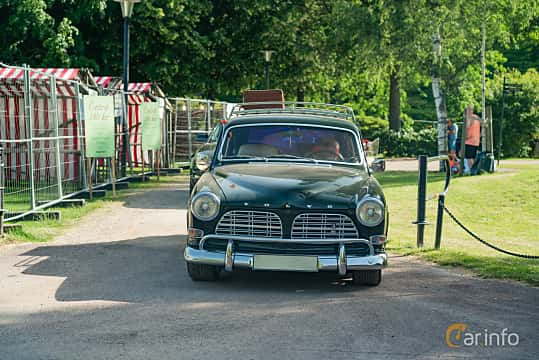 Front  of Volvo Amazon 121 P220 2.0 Manual, 82ps, 1969 at Ronneby Nostalgia Festival 2019