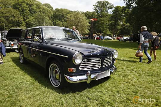 Front/Side  of Volvo Amazon 121 P220 2.0 Manual, 82ps, 1969 at Sofiero Classic 2019