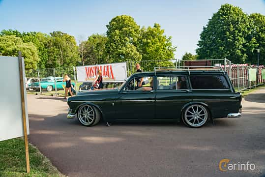 Side  of Volvo Amazon 121 P220 2.0 Manual, 82ps, 1969 at Ronneby Nostalgia Festival 2019