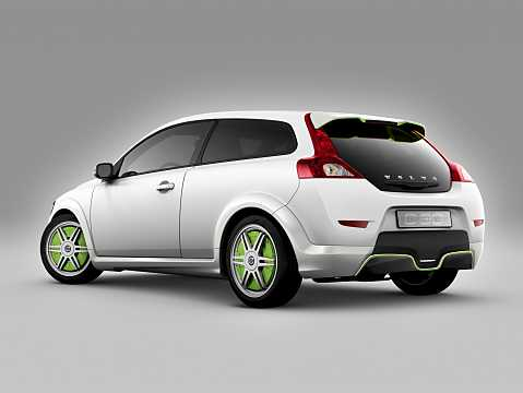 Back/Side of Volvo C30 Electric 24 kWh Single Speed, 111hp, 2012
