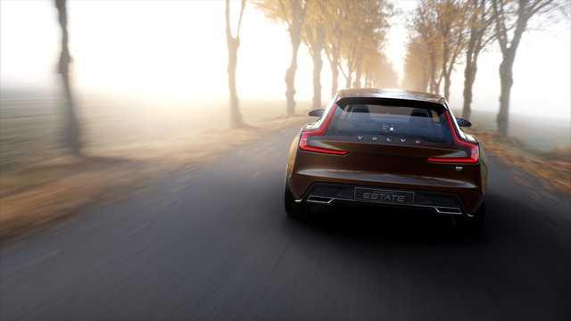 Back of Volvo Concept Estate Concept Concept, 2014