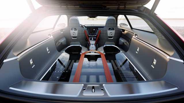 Interior of Volvo Concept Estate Concept Concept, 2014