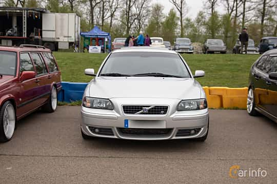 Front  of Volvo S60 2.5T Manual, 210ps, 2004 at Lucys motorfest 2019
