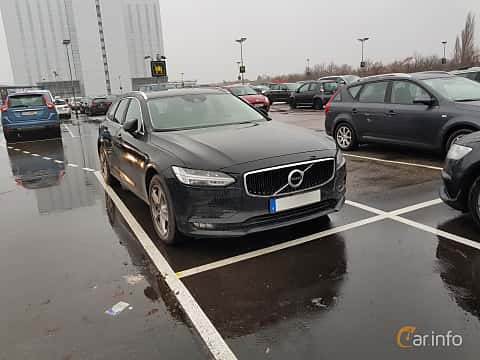 Front/Side  of Volvo V90 2.0 D4 AWD Geartronic, 190ps, 2017