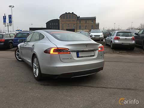 Bak/Sida av Tesla Model S 85D 85 kWh AWD Single Speed, 423ps, 2015