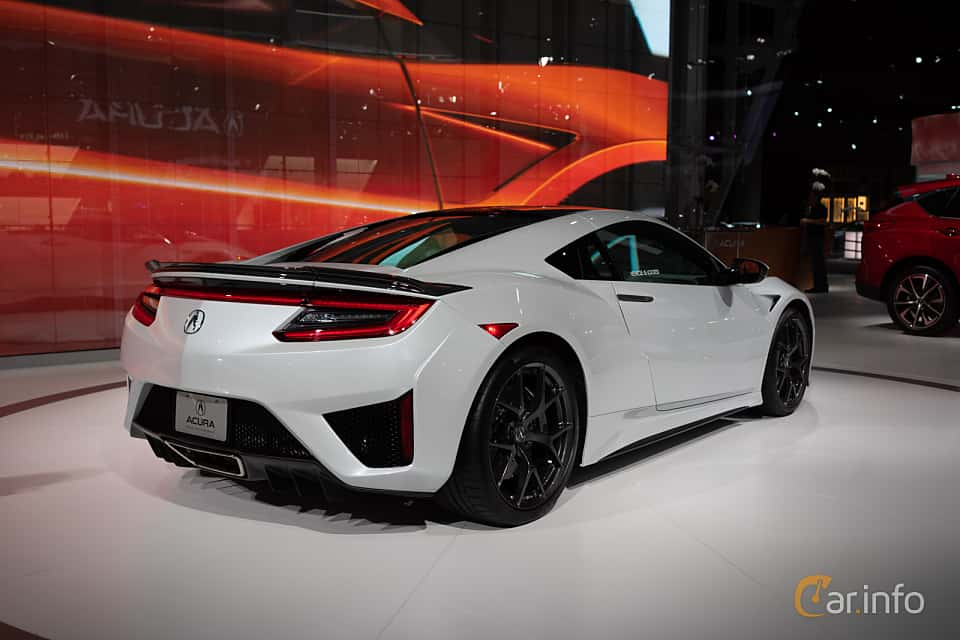 Back/Side of Acura NSX 3.5 V6 SH-AWD DCT, 573ps, 2019 at LA Motor Show 2018
