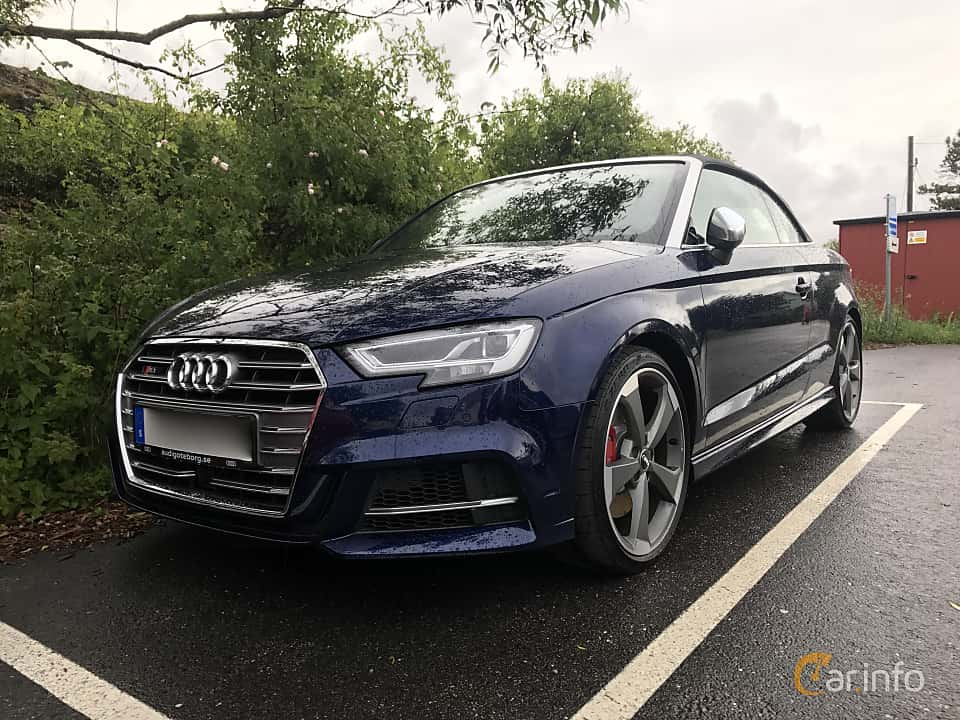 Front/Side of Audi S3 Cabriolet 2.0 TFSI quattro S Tronic, 310ps, 2017