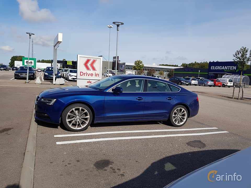 Side  of Audi A5 Sportback 2.0 TFSI quattro S Tronic, 211ps, 2012