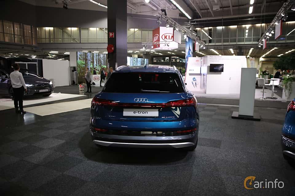 Back of Audi e-tron 55 quattro  Single Speed, 408ps, 2019 at eCar Expo Göteborg 2018