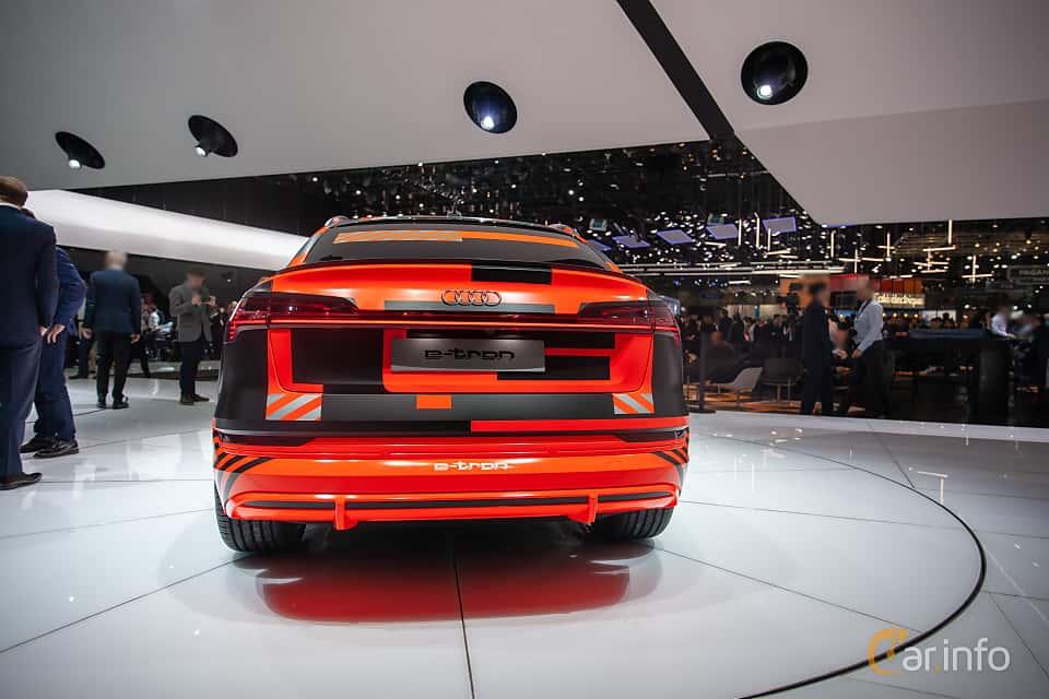 Back of Audi e-tron 55 quattro  Single Speed, 408ps, 2019 at Geneva Motor Show 2019