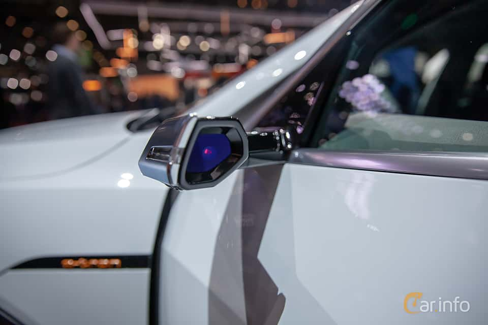 Close-up of Audi e-tron 55 quattro  Single Speed, 408ps, 2019 at Geneva Motor Show 2019