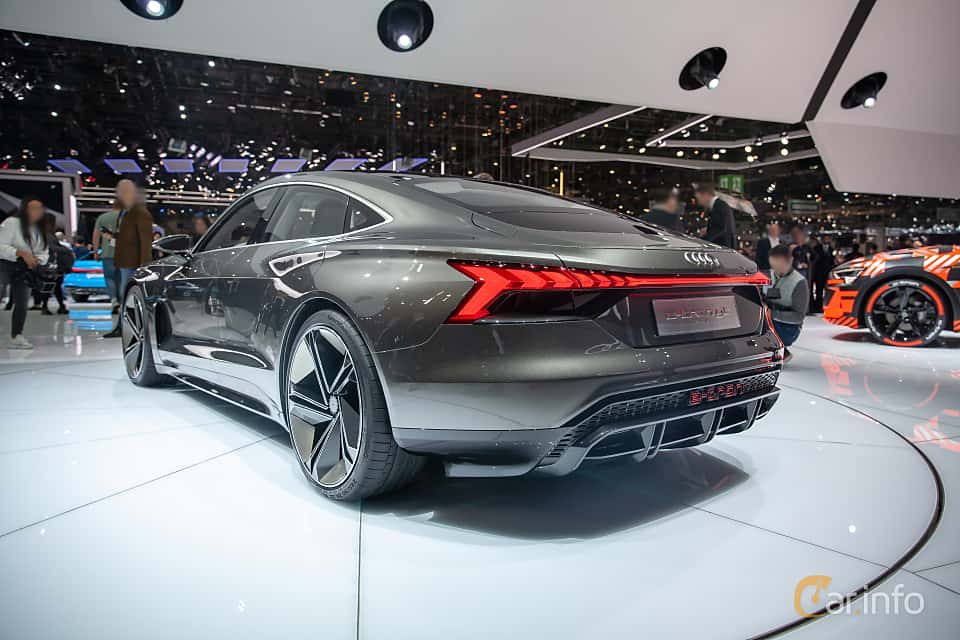 Back/Side of Audi e-tron GT 90 kWh quattro Single Speed, 590ps, 2019 at Geneva Motor Show 2019