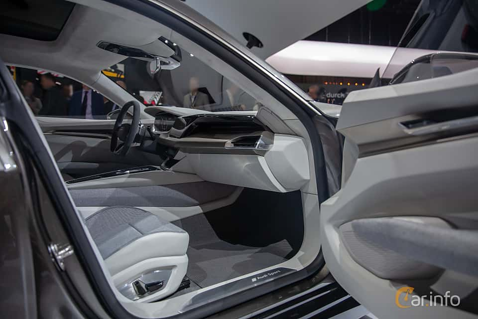 Interior of Audi e-tron GT 90 kWh quattro Single Speed, 590ps, 2019 at Geneva Motor Show 2019