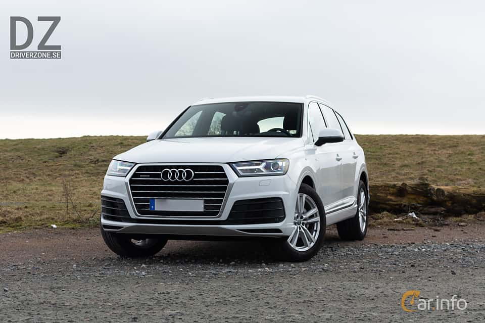 Front/Side  of Audi Q7 3.0 TDI V6 ultra quattro TipTronic, 218ps, 2018